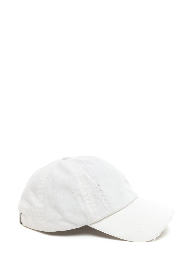 Signs Of Distress Washed Baseball Hat OFFWHITE