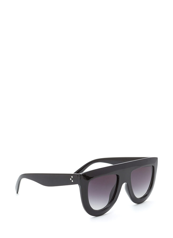 Blue Skies Flat-Top Sunglasses BLACK