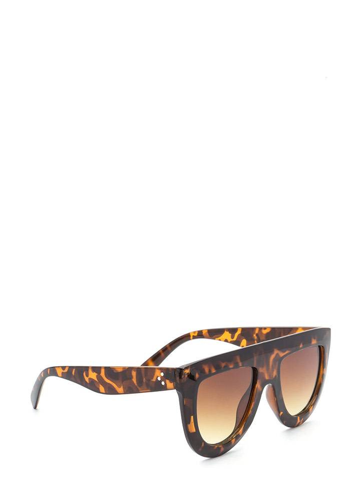 Blue Skies Flat-Top Sunglasses BROWN