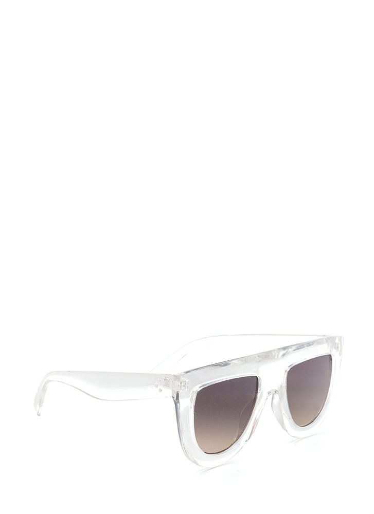 Blue Skies Flat-Top Sunglasses CLEAR