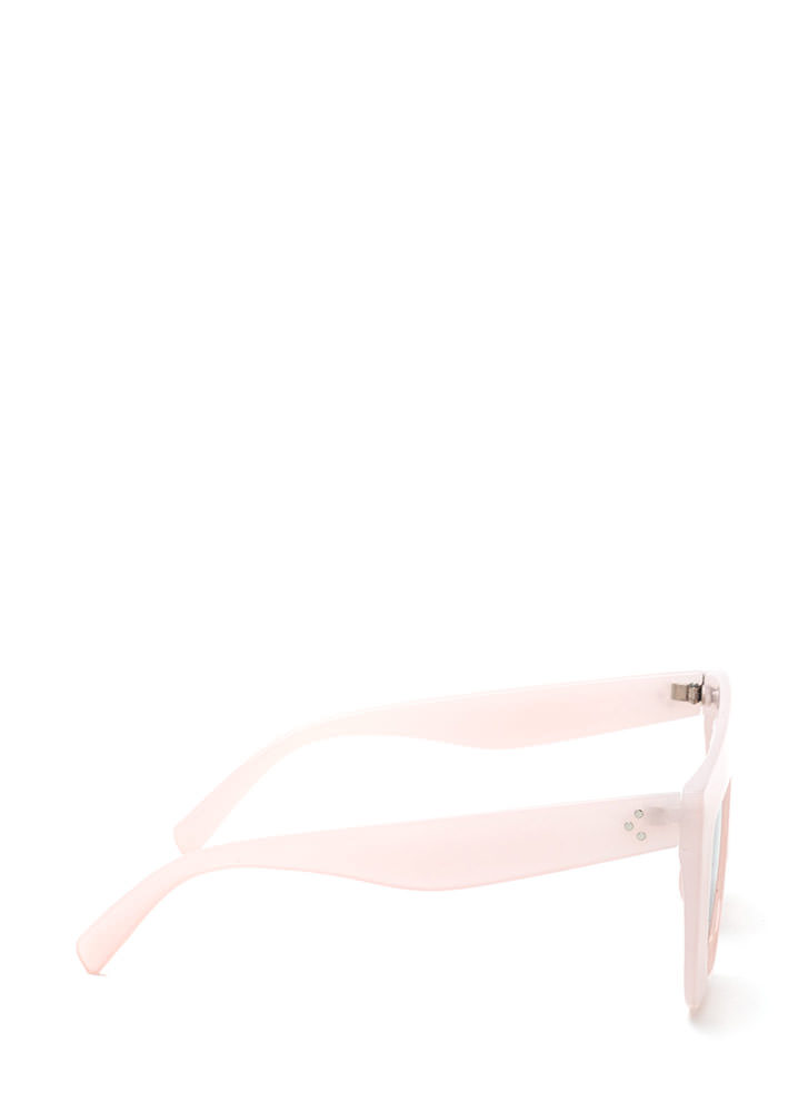 Blue Skies Flat-Top Sunglasses PINK
