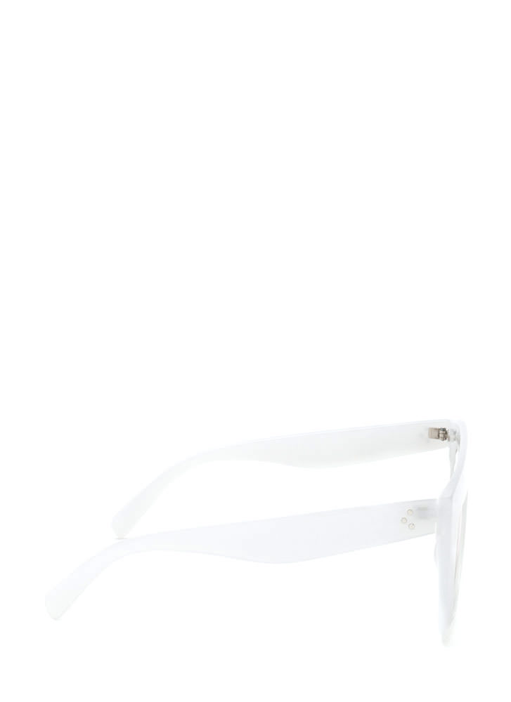 Blue Skies Flat-Top Sunglasses WHITE