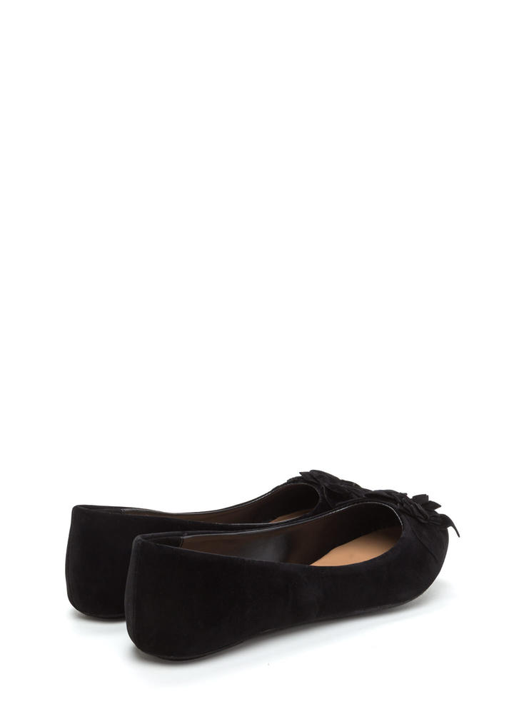 Fresh Fantasy Embroidered Ballet Flats BLACK