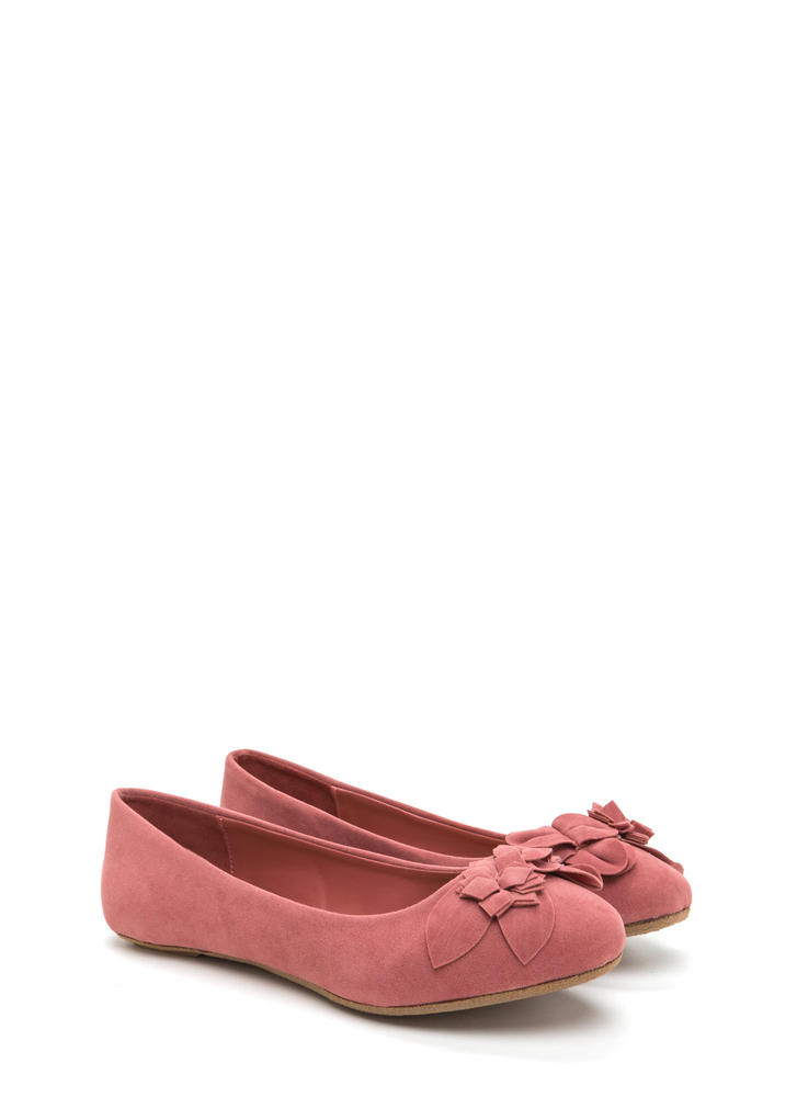 Fresh Fantasy Embroidered Ballet Flats MAUVE