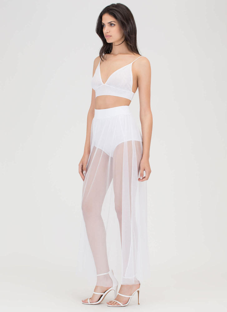 Sheer All About It Two-Piece Maxi Dress WHITE