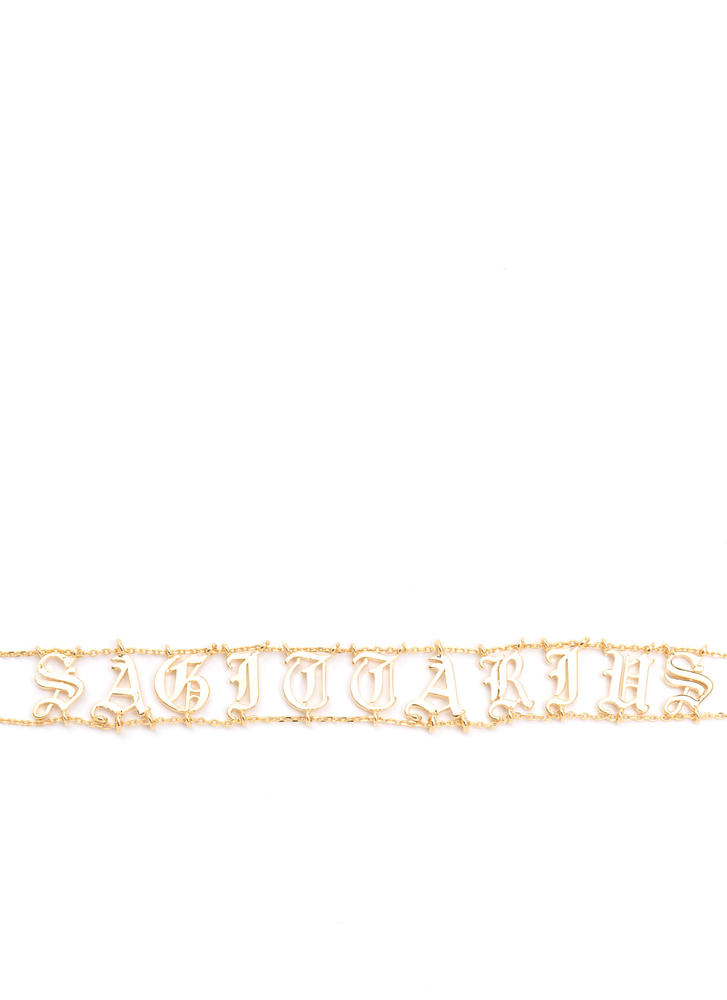 Astrology Talk Sagittarius Chain Choker GOLD