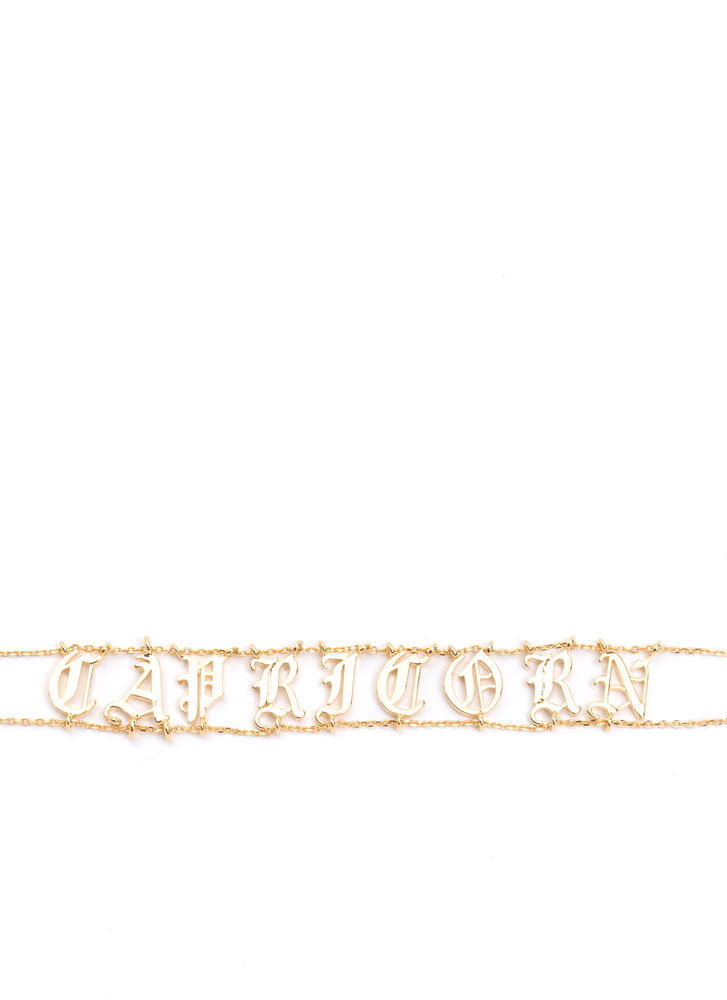 Astrology Talk Capricorn Chain Choker GOLD
