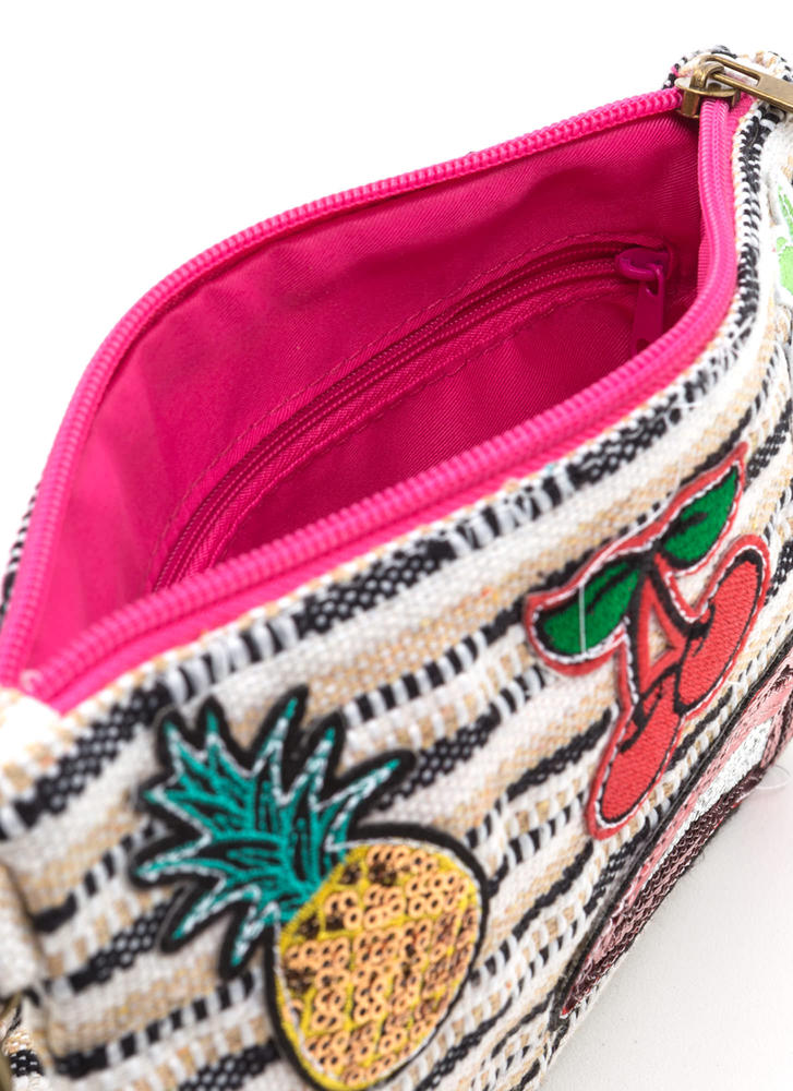 Patch Made In Heaven Woven Clutch MULTI