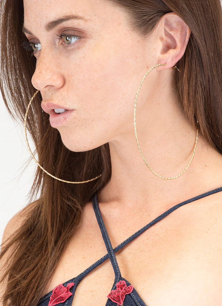 Bright Away Oversized Hoop Earrings GOLD