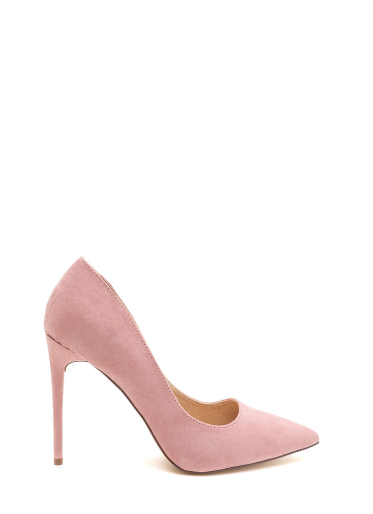 Sleek Up Pointy Faux Suede Heels DUSTYPINK