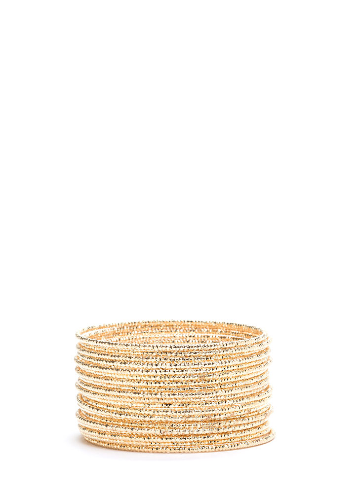 As You Like It Bangle Bracelet Set GOLD