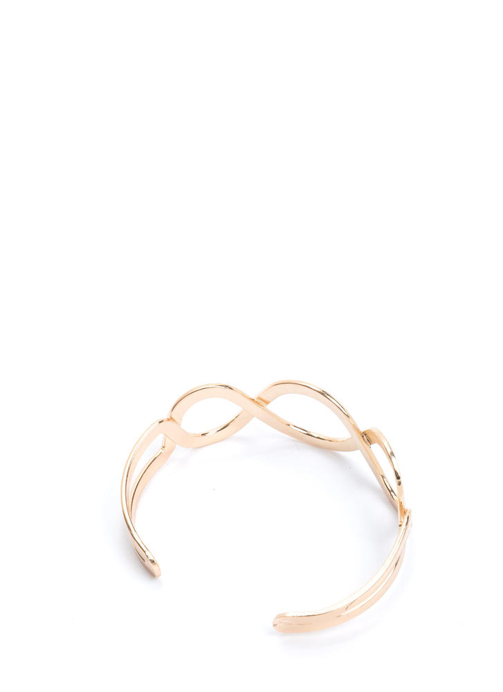 Graceful Lines Cut-Out Cuff Bracelet GOLD