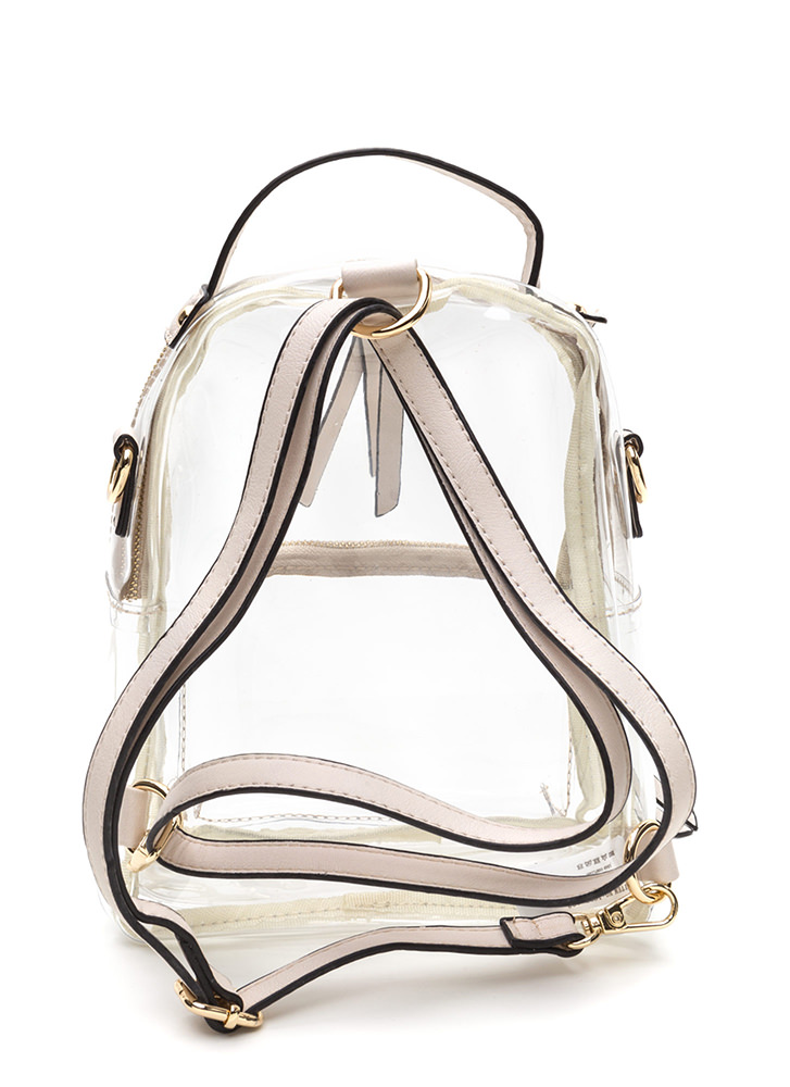 See Right Through You Mini Backpack CREAM