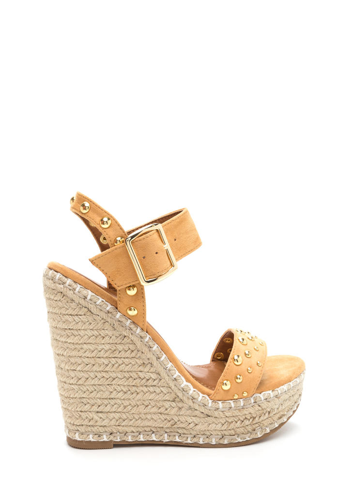 Dome Improvement Espadrille Wedges CAMEL