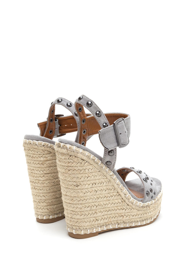 Dome Improvement Espadrille Wedges GREY