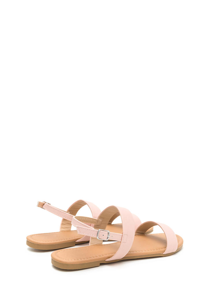 Totally Classic Faux Leather Sandals BLUSH