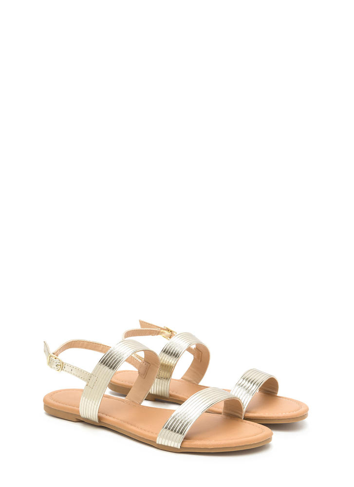 Totally Classic Metallic Sandals GOLD