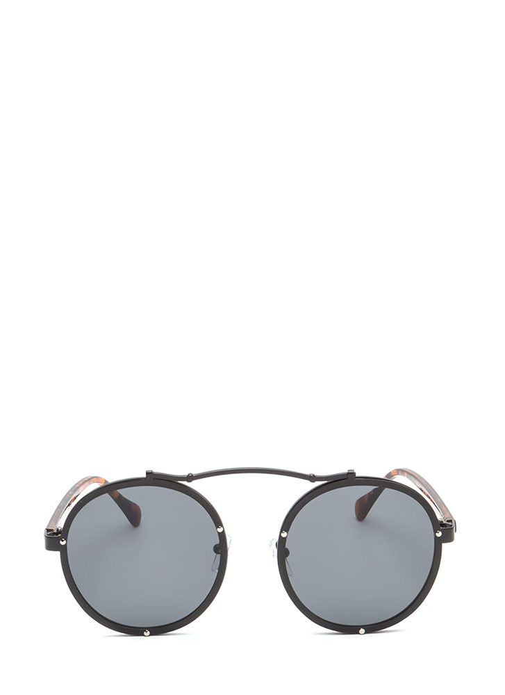 Round Of Applause Top Bar Sunglasses BLACK