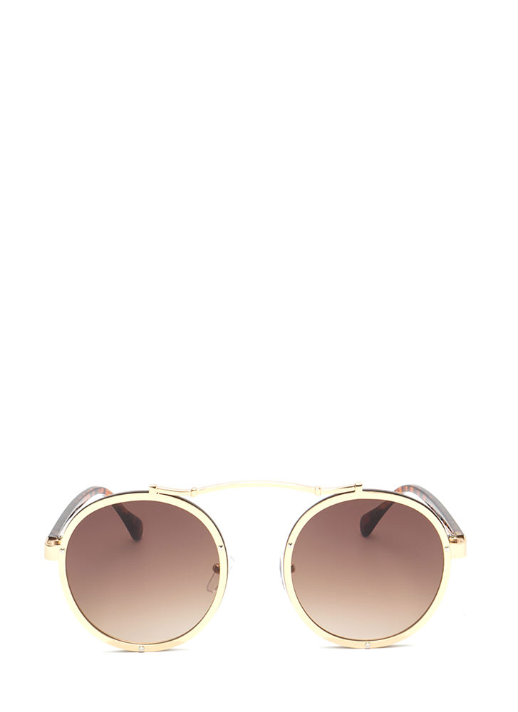 Round Of Applause Top Bar Sunglasses GOLD