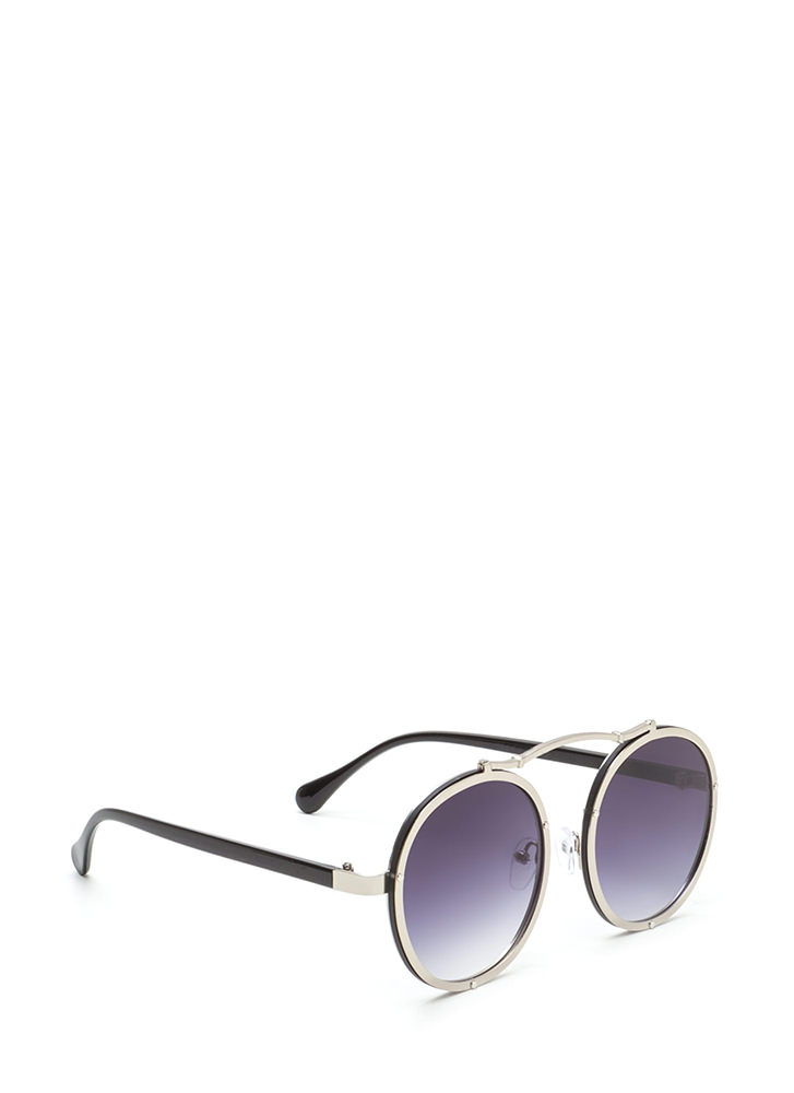 Round Of Applause Top Bar Sunglasses SILVER