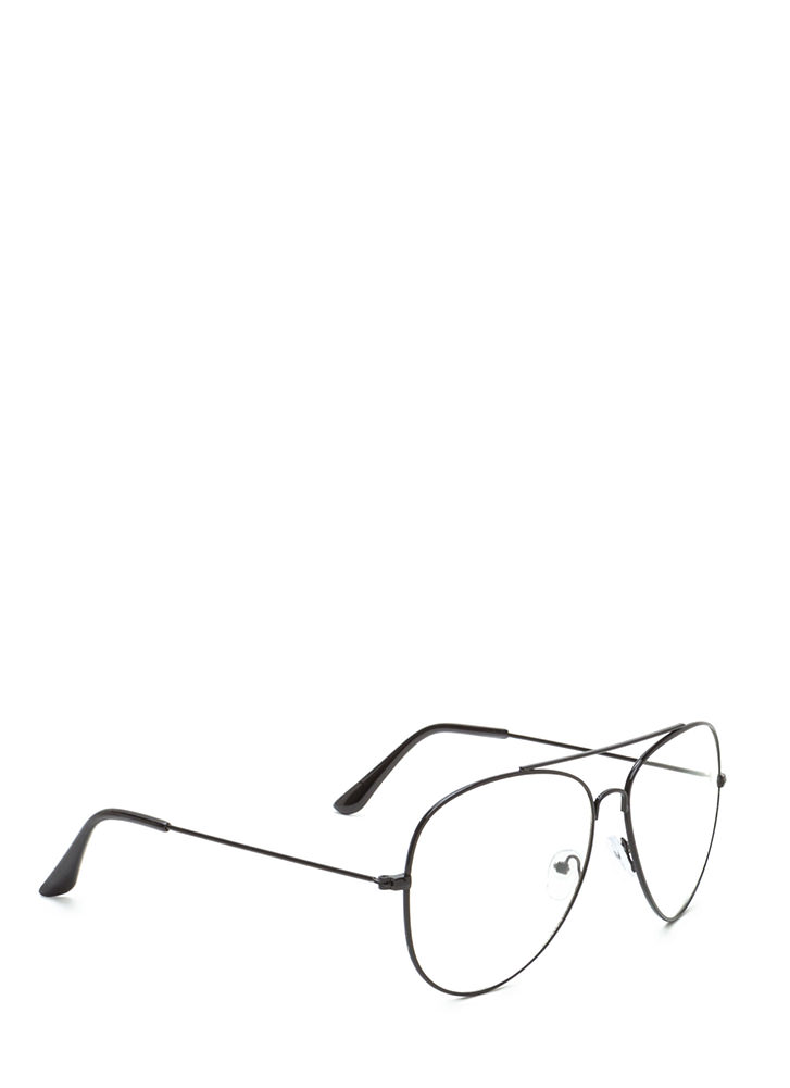 Chic Perspective Top Bar Glasses BLACK