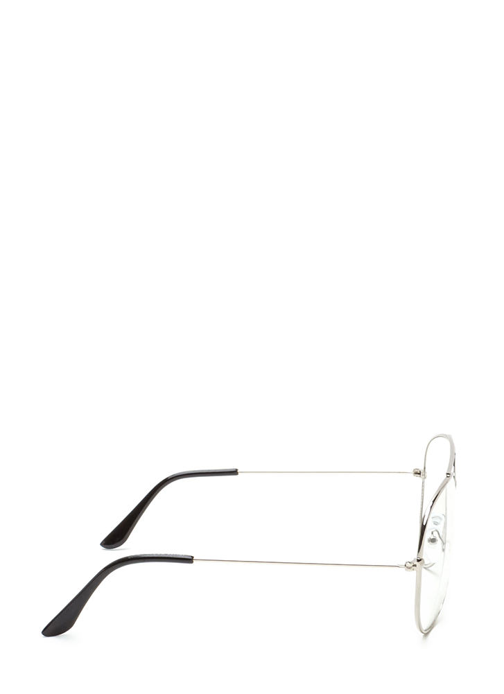 Chic Perspective Top Bar Glasses SILVER