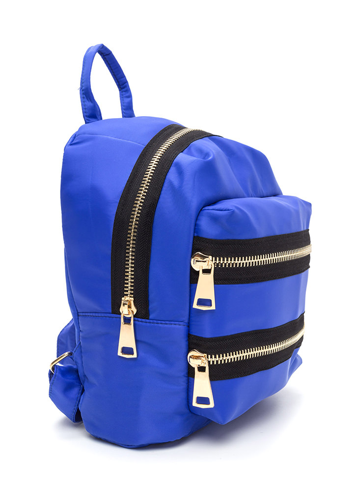 Set A Trend Chunky Zippered Backpack ROYAL