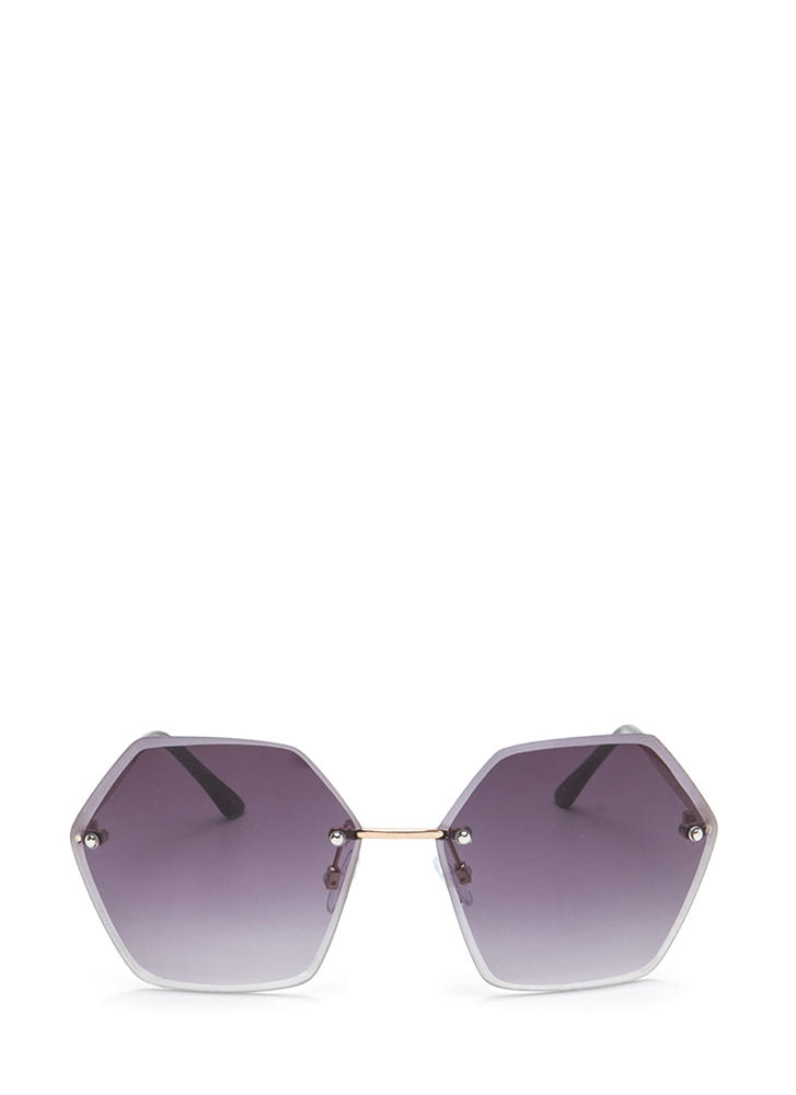 After Hours Tinted Hexagon Sunglasses BLACK