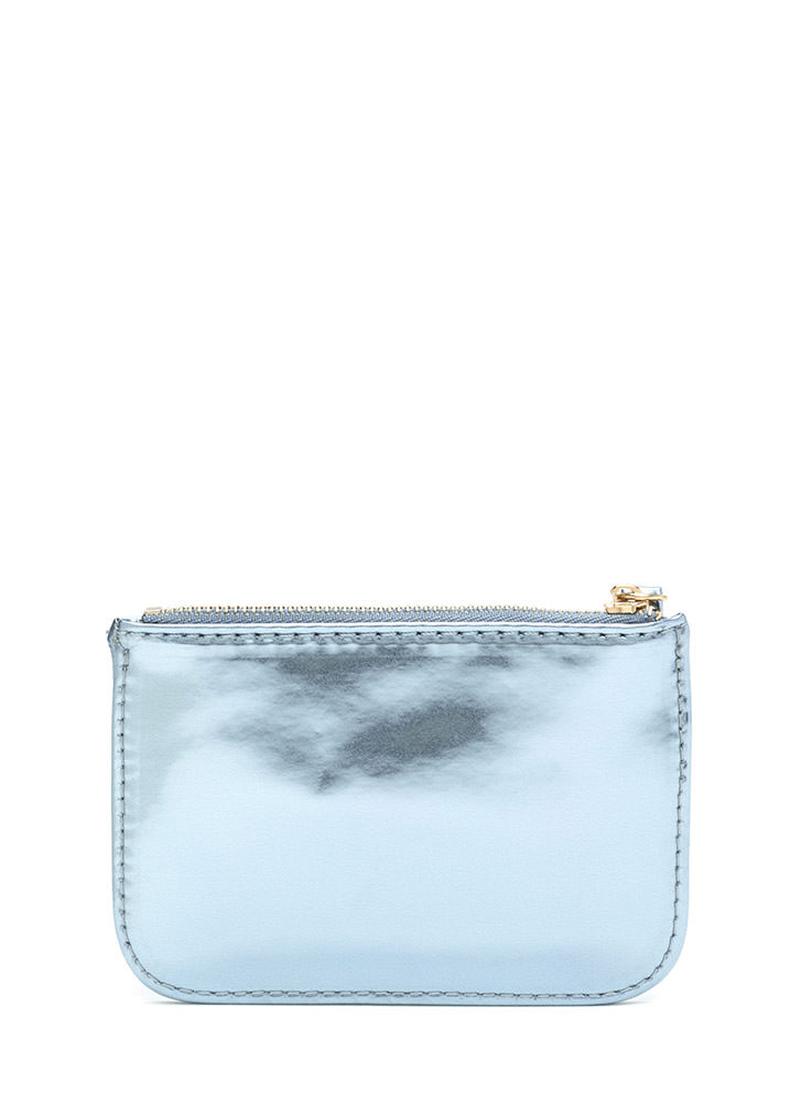 Big Spender Metallic Coin Purse BLUE