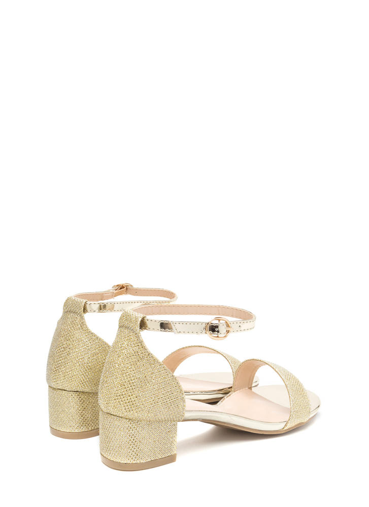 Glitz The Best Metallic Block Heels GOLD
