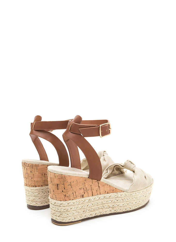 Vacay Plans Canvas Espadrille Wedges NATURAL
