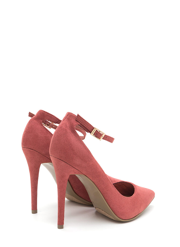 Match Point Faux Suede Heels DKMAUVE