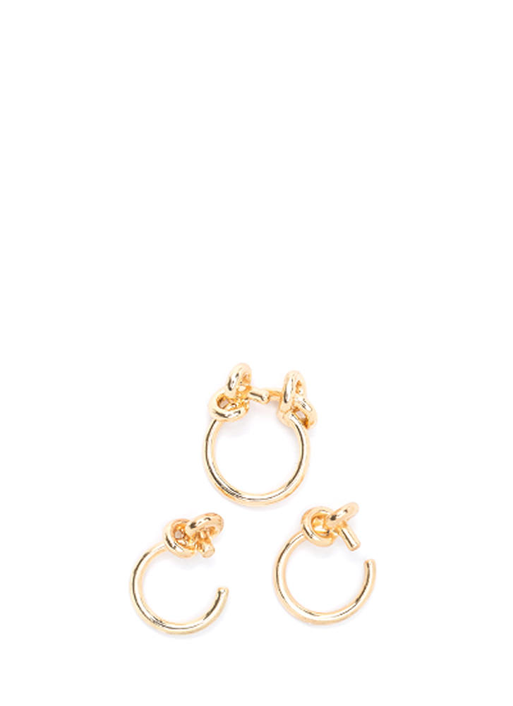 Knot Your Average Three-Ring Set GOLD