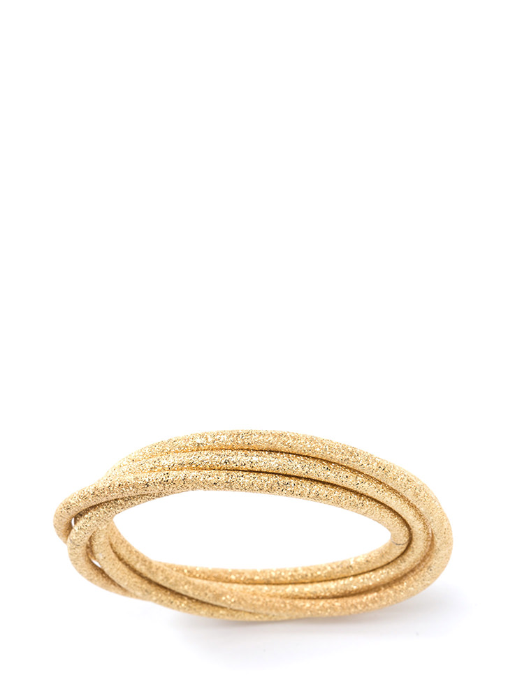 Stacked In Your Favor Glitzy Bracelet GOLD