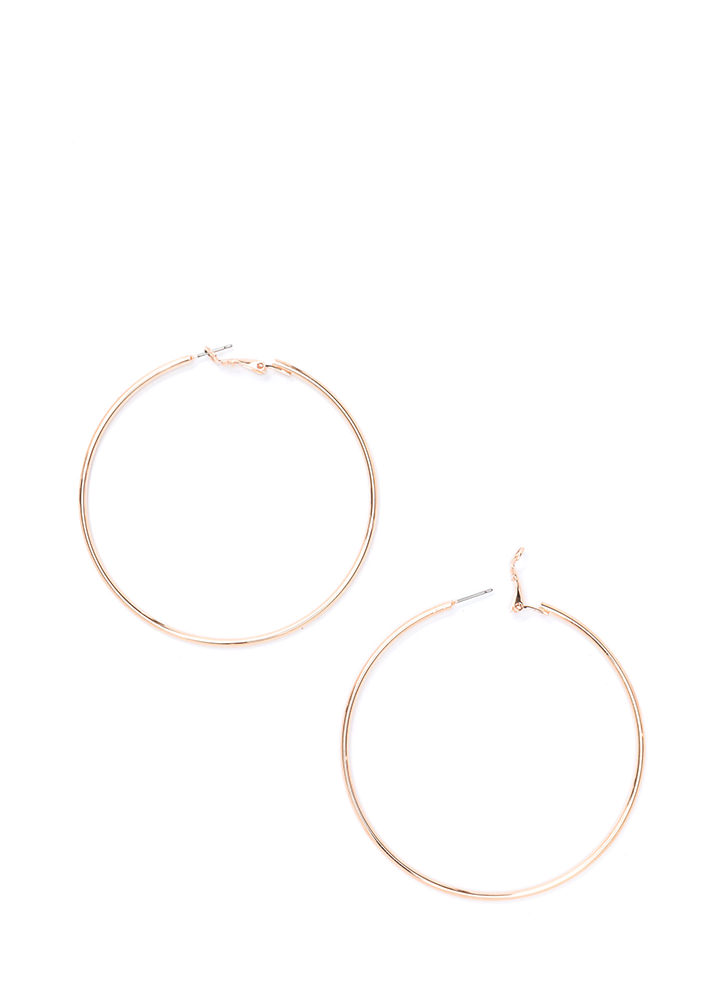Nineties Throwback Hoop Earrings ROSEGOLD