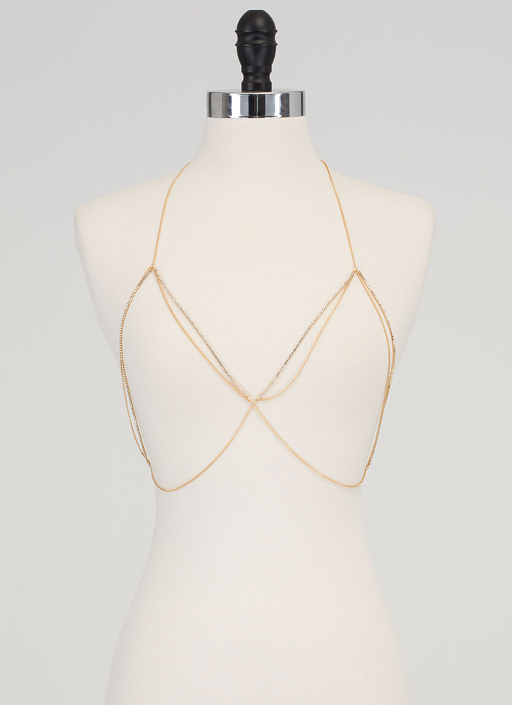 Jewel Collector Halter Body Chain GOLD