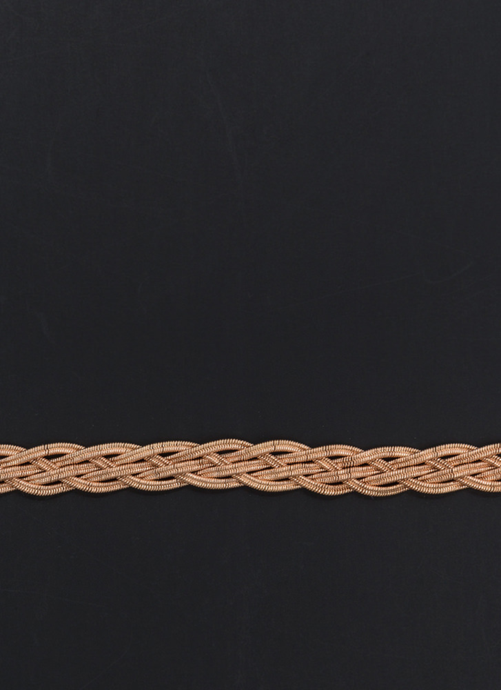 Come To Your Braid Textured Necklace ROSEGOLD