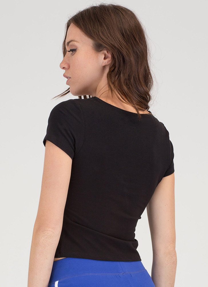 The String Section Lace-Up Top BLACK