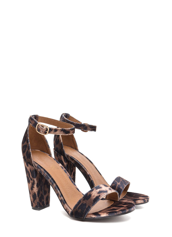 Gift To Myself Leopard Chunky Heels LEOPARD