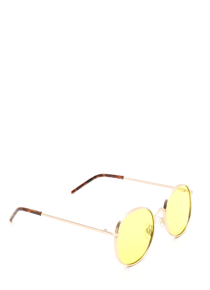 Round The World We Go Sunglasses LIME