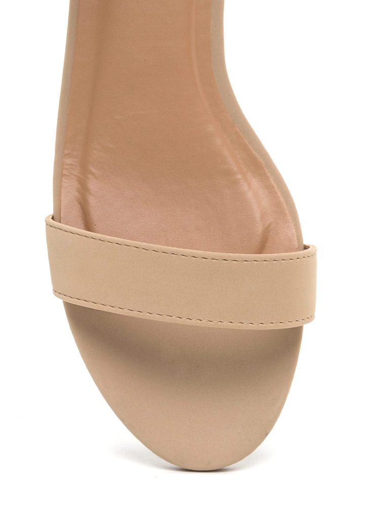 Low Key Chic Faux Nubuck Sandals NUDE