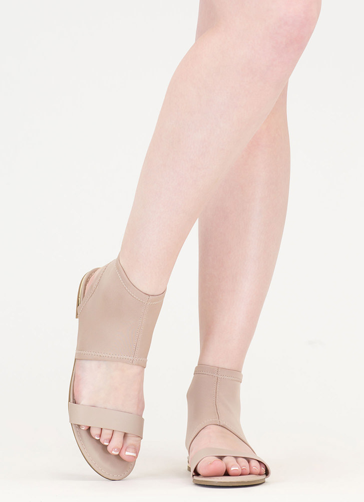 Minimal Sophistication Cut-Out Sandals NUDE