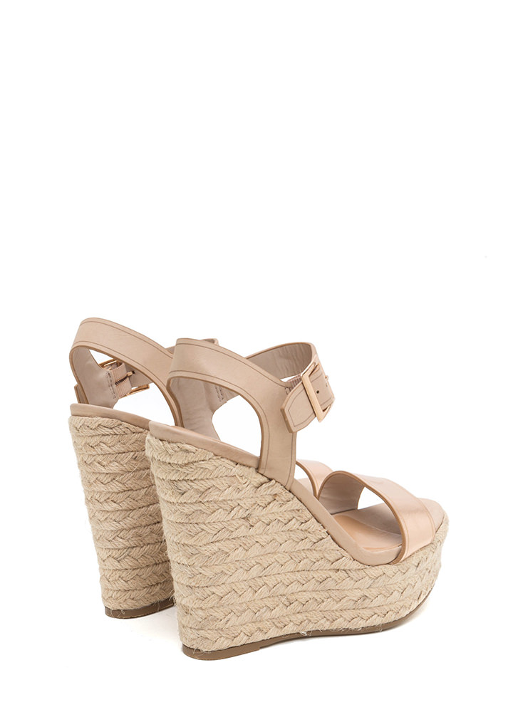 Endless Summer Espadrille Wedges ROSEGOLD