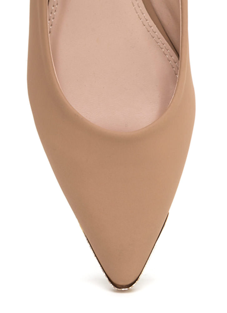 Good Point Faux Nubuck Flats NUDE