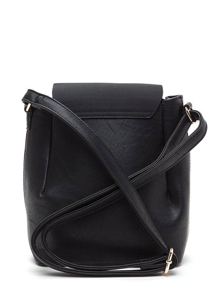 Ring Back To Life Double Zip Bag BLACK