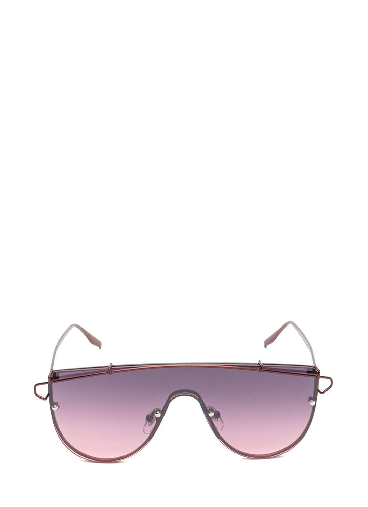 Color Your World Goggle Sunglasses BURGUNDY