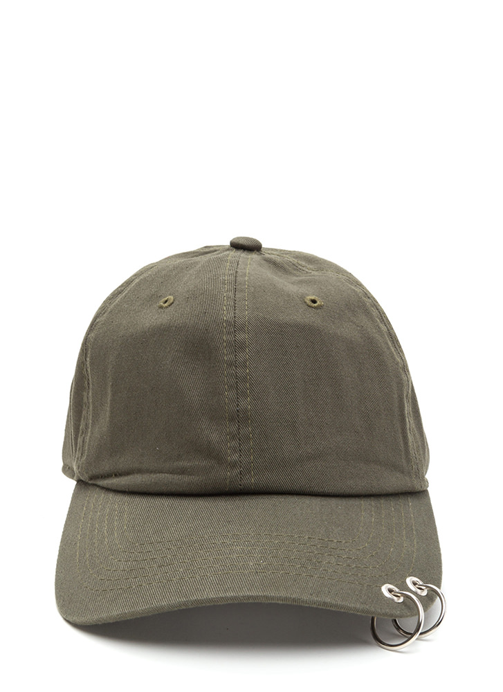 Double Feature Hoop Baseball Hat OLIVE