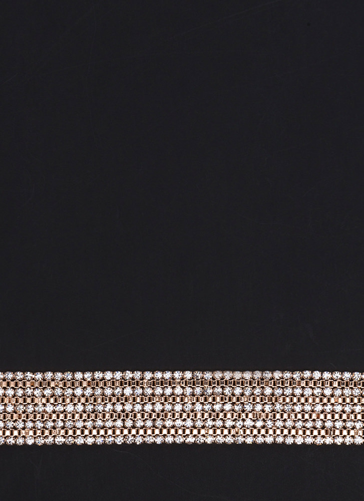 Stacked Up To Be Jeweled Choker ROSEGOLD