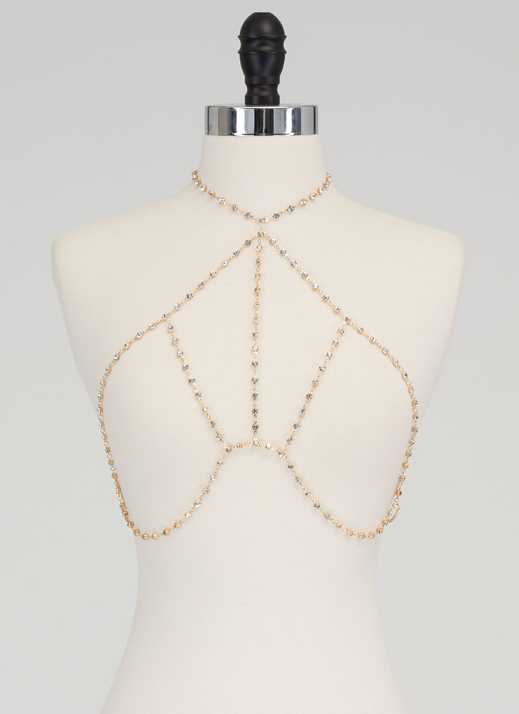 Sparkles Will Fly Caged Bodychain GOLD