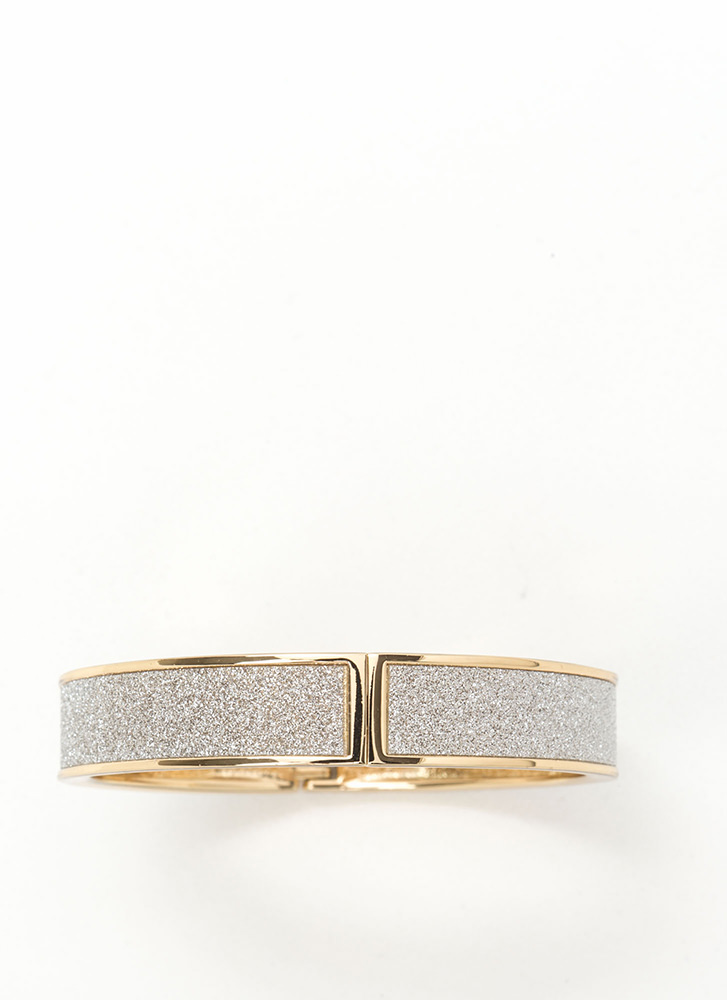Go With Glitter Hinged Bracelet GOLD
